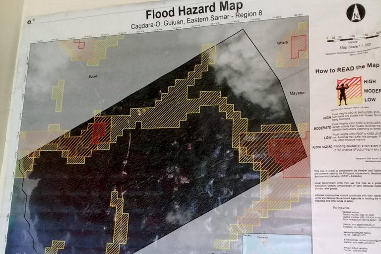 Eine Hochwassergefahren-Karte