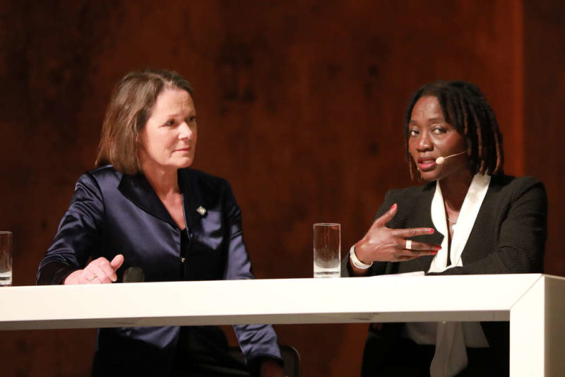 Christina Rau und Dr. Auma Obama