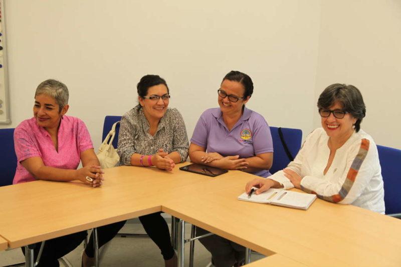 er Aktivistinnen für Frauenrechte in der Duisburger Kindernothilfe-Geschäftsstelle (Quelle: Lorenz Töpperwien)