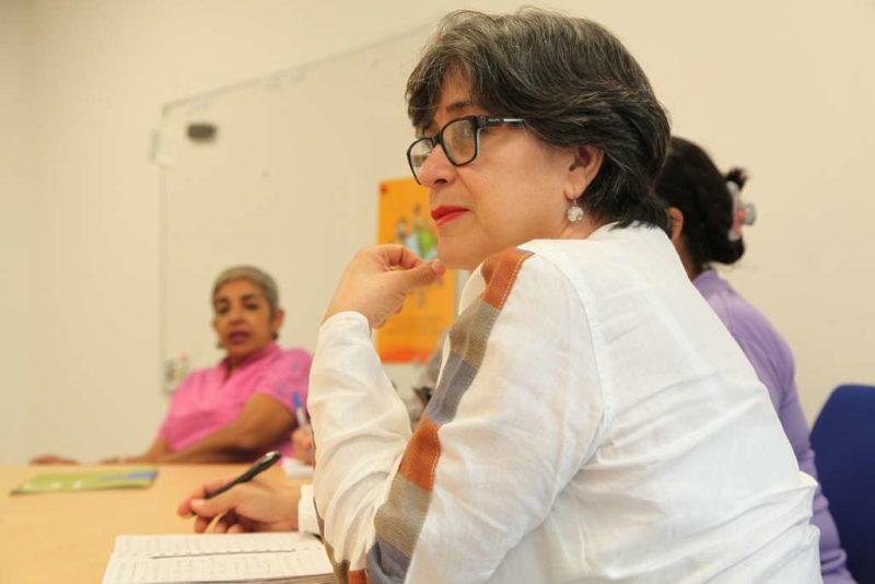 Cristina del Carmen Alvarado Lara vom Movimiento Visitación Padilla (Quelle: Lorenz Töpperwien)