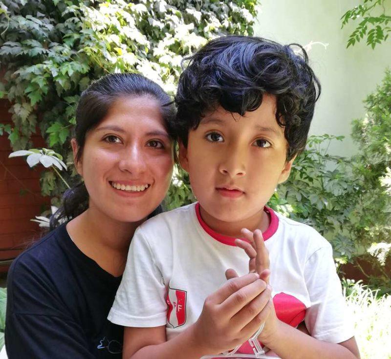 Corina und ihr Sohn