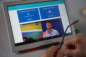 Bildschirmansicht der digitalen Plattform