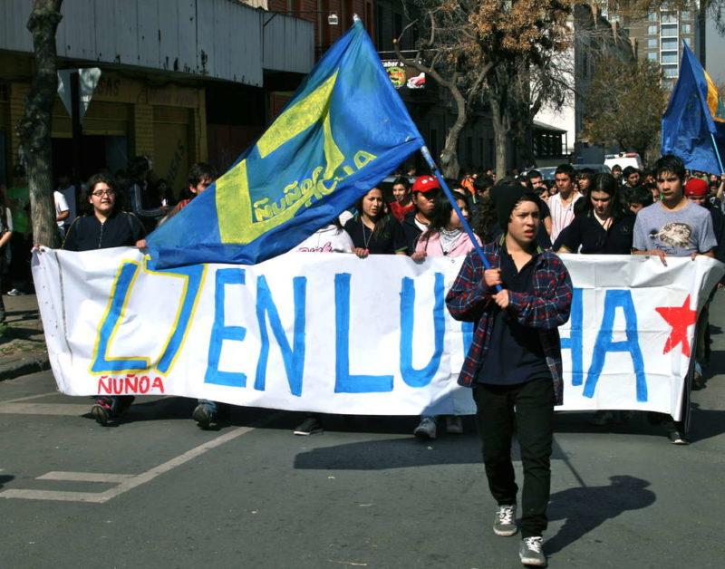 Demonstration in Chile. (Quelle: Jürgen Schübelin)