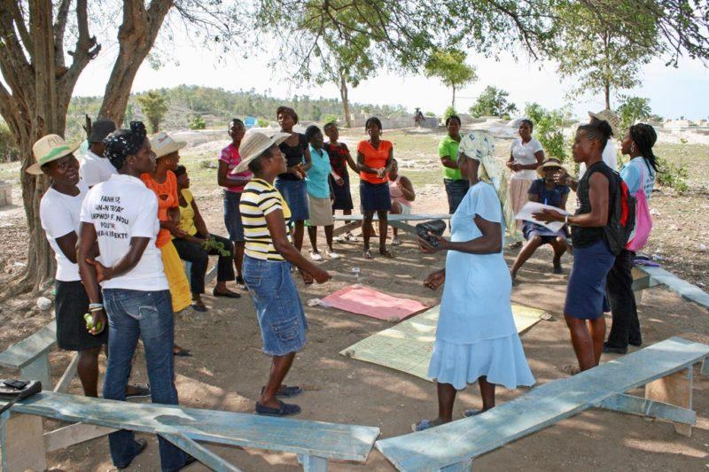 Selbsthilfegruppe in Haiti (Quelle: Jürgen Schübelin)