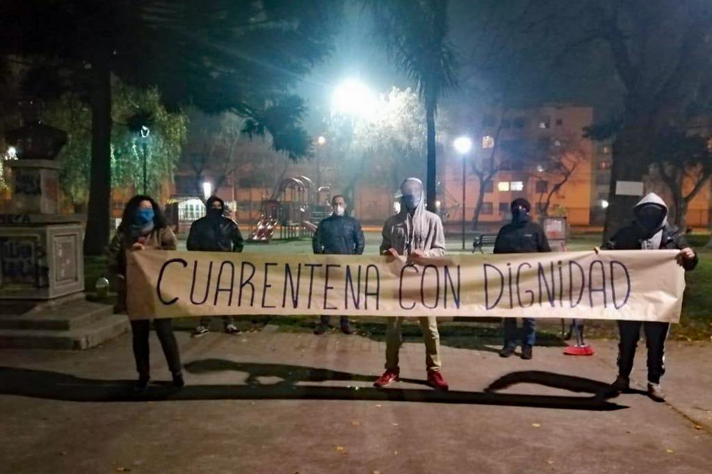 Protestaktion in Concepción gegen die Ausnutzung der Pandemie durch die Regierung