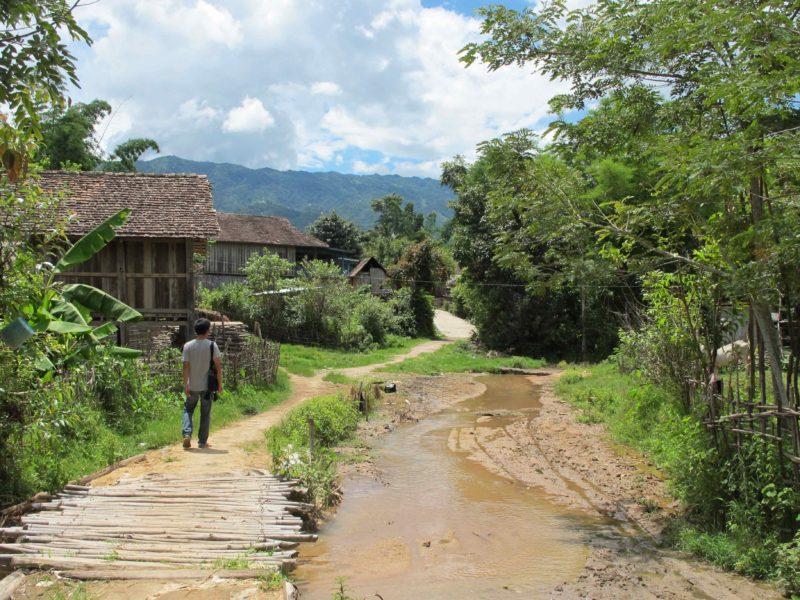 Aufnahme von der Bergregion Chiang Rai