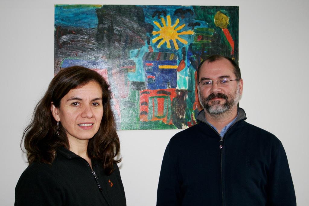 José Horacio Wood und Claudia Vera von unserem chilenischen Partner Fundación ANIDE