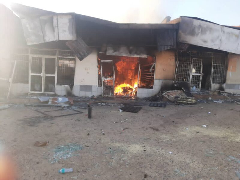 A local store owned by a foreigner was looted and burnt (credits: Phil Donnell)