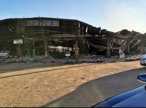 A national library in Nhlangano was burnt as it was to belong to the King (credits: Phil Donnell)